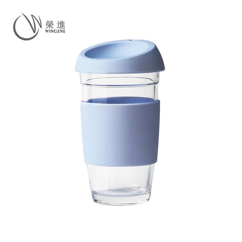 食品级硅胶杯套玻璃咖啡杯