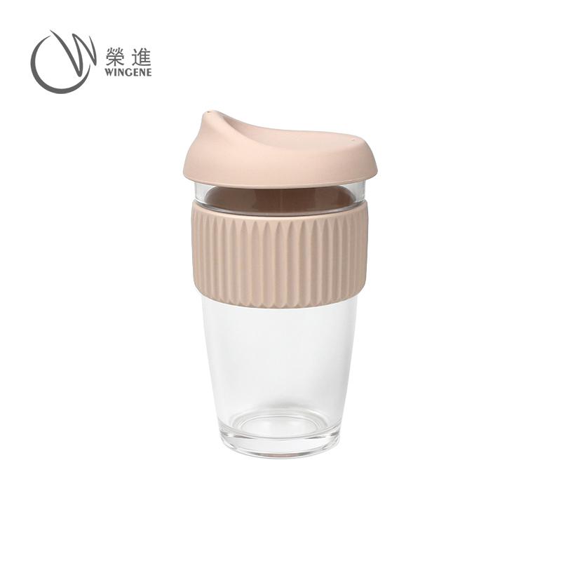 防烫硅胶套玻璃咖啡杯