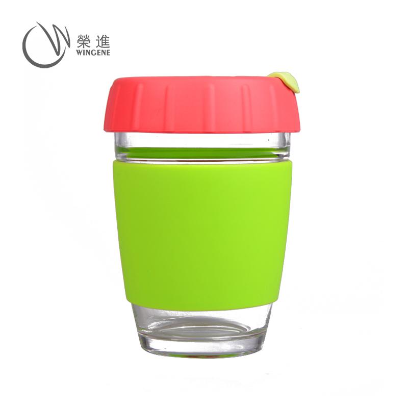 硅胶咖啡杯|热饮防烫硅胶杯套